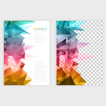 Vector Dreiecke Muster Hintergrund.