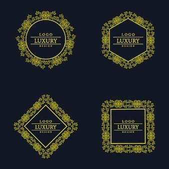 Vector erstaunliche luxus logo designs