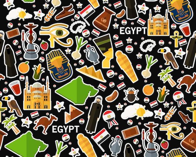 Vector flaches nahtloses beschaffenheitsmuster ägypten