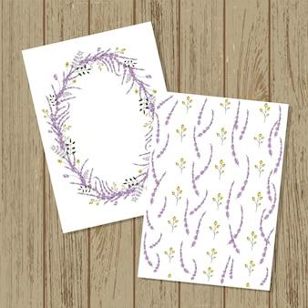 Vector floral einladungskarte