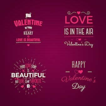 Vector fotoüberlagerungen, hand gezeichnete beschriftungssammlung, inspirierend zitat. valentinstag-etiketten festgelegt. liebe liegt in der luft, meine süße liebe