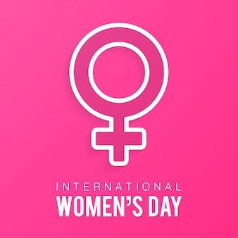 Vector frauentag linear modernen und kreativen hintergrund elegante grußkarte design für international womens day feier
