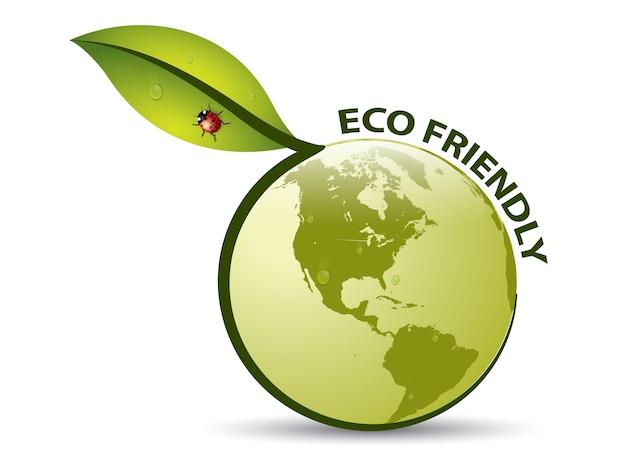 Vector green eco freundlich etikett