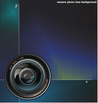 Vector hintergrund mit der kamera und platz für text