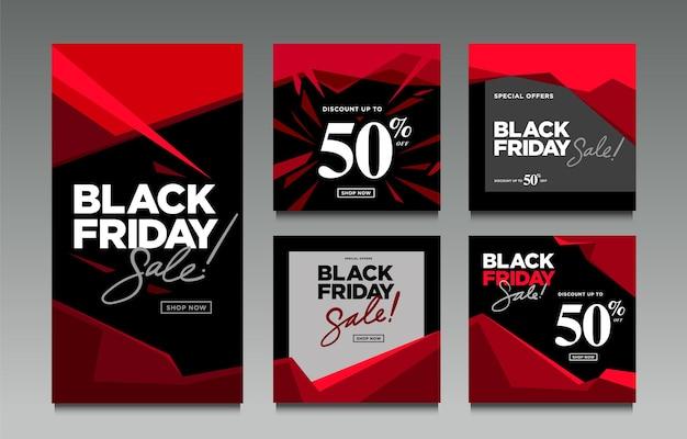 Vector illustration black friday sale für social media post