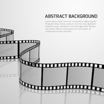 Vector kinofilmhintergrund mit retro- filmstreifenrolle