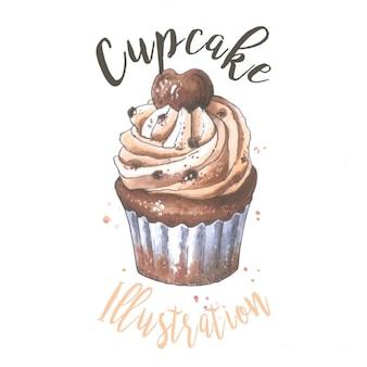Vector kleinen kuchen illustration der bäckerei