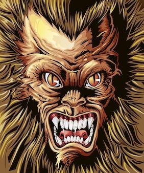 Vector königlichen monsterhintergrund.