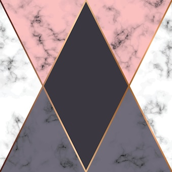 Vector marmorbeschaffenheitsdesign mit goldenen geometrischen linien, marmelnde schwarzweiss-oberfläche