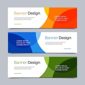 Vector moderne web-vorlage der abstrakten fahne