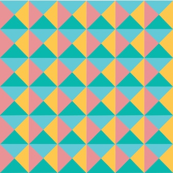 Vector modernes buntes pastellgeometriedreieckmuster