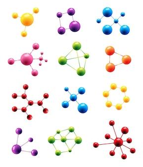 Vector molekülstrukturmodellzeichen
