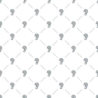 Vector nahtloses muster, ohr, editierbar kann für webseitenhintergründe verwendet werden, musterfüllungen