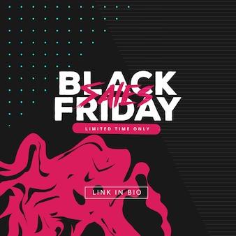 Vector quadratischen schwarzen freitag web-banner