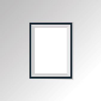 Vector realistische papier- oder plastikweißbild-gestaltenmatte