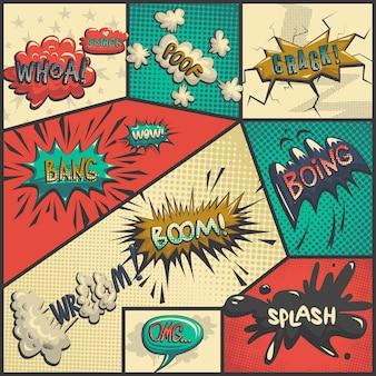Vector reihe von comics symbole