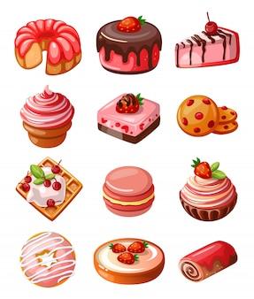 Vector reihe von icons süßigkeiten