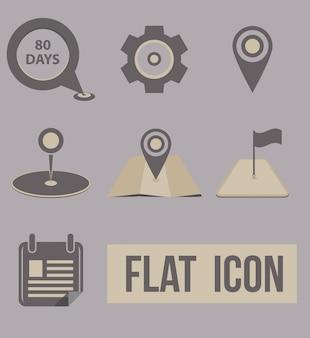 Vector set icons verkehrsmittel. navigation