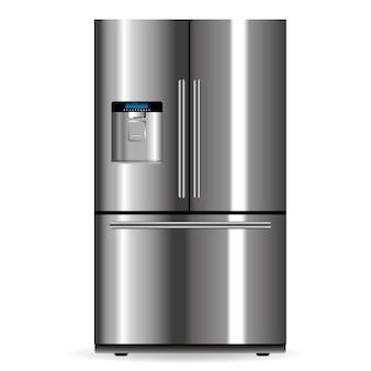 Vector silbernen kühlschrank