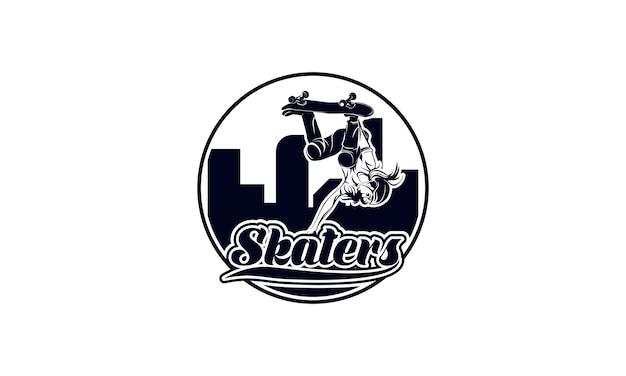 Vector skateboarding logos emblem, trick, shop, vektor-illustration