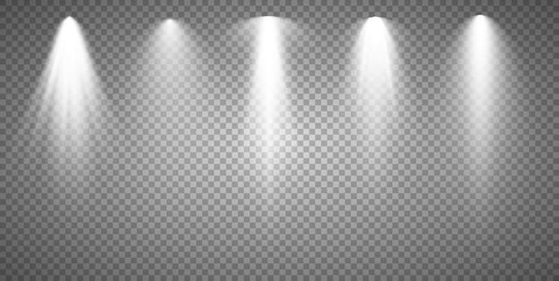 Vector spotlights szene lichteffekte