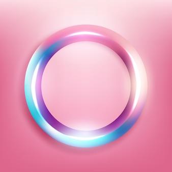 Vector vibrant neon circle mit glow
