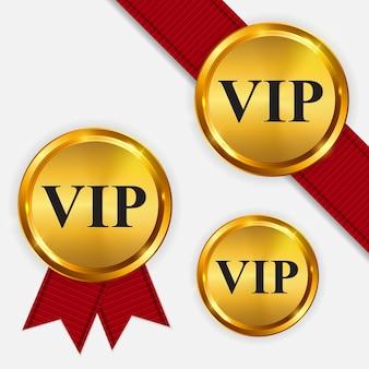 Vector vip-mitglieder nur goldschild, etikettenvorlage eps10