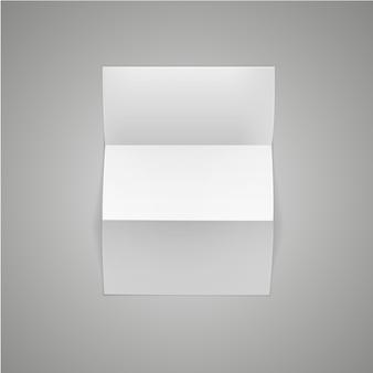 Vector white blank paper seitenblatt mit corner curl isoliert auf