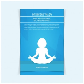 Vector yoga abbildung yoga-tag plakat-entwurf