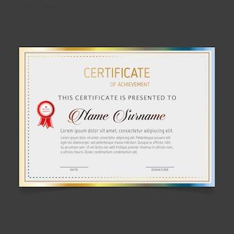 Vector zertifikatvorlage