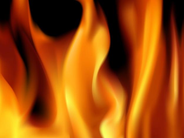 Vectoral brennende flammen