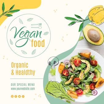 Vegan food instagram post vorlage