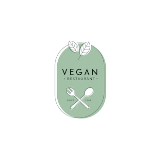 Vegan food restaurant logo