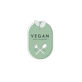 Vegan food restaurant logo Kostenlosen Vektoren