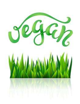 Vegane konzeptionelle handgeschriebene phrase. vektor-illustration