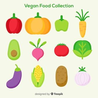 Vegane lebensmittelkollektion