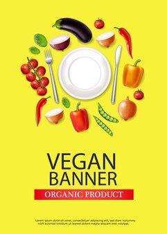 Vegane teller banner