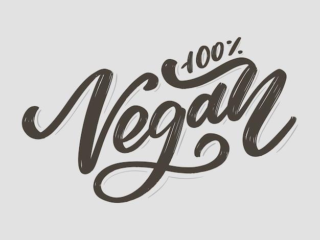 Veganer handgeschriebener schriftzug