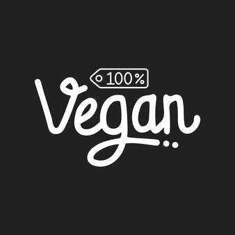 Veganer handschriftzug mit schwarzem hintergrund Premium Vektoren