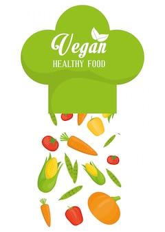 Veganes essen design