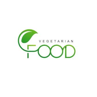 Veganes essen etikettendesign
