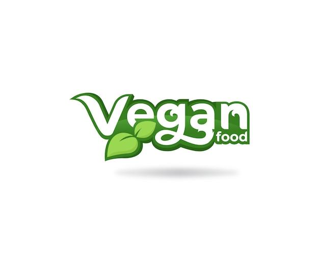 Veganes essen typografie-logo-etikett
