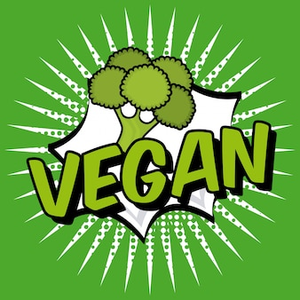 Veganes lebensmittel über weißer hintergrundvektorillustration