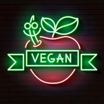 Veganes logo leuchtreklame