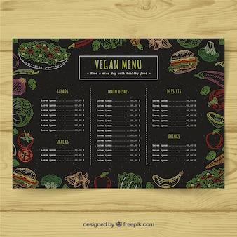Veganes menü design
