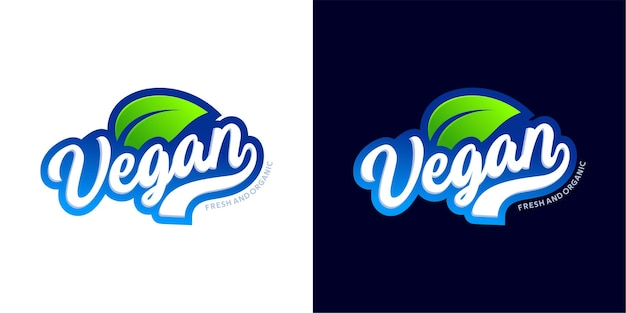 Veganes typografie-logo-design