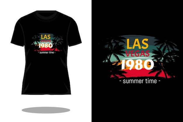 Vegas 1980 retro-silhouette-t-shirt-design