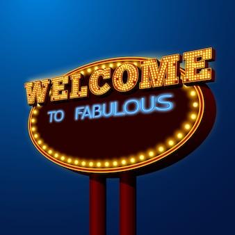 Vegas-nachtlebenanschlagtafel-zeichenplakat