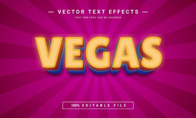 Vegas-texteffekt-design