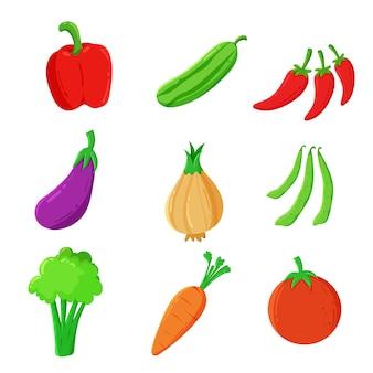Vegetabales auf weiß